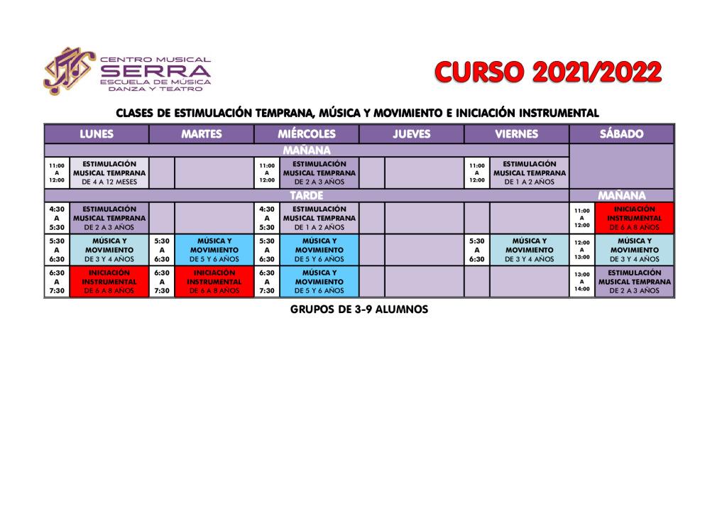 thumbnail of HORARIOS CLASES DE ESTIMULACION MUSICAL-MUSICA Y MOVIMIENTO-INICIACION INSTRUMENTAL 2021-2022